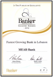 Fastest Growing Bank in Lebanon (2012)